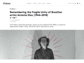 remembering the fragile unity of brazilian artist antonio dias (1944–2018)