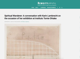 spiritual wanderer: a conversation with karin lambrecht on the occasion of her exhibition at instituto tomie ohtake