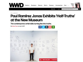 paul ramírez jonas exhibits 'half-truths' at the new museum
