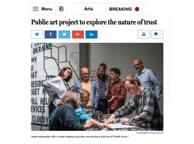 public art project to explore the nature of trust