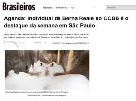 agenda: individual de berna reale no CCBB é o destaque da semana em são paulo