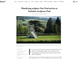 swiss artist not vital takes over yorkshire sculpture park