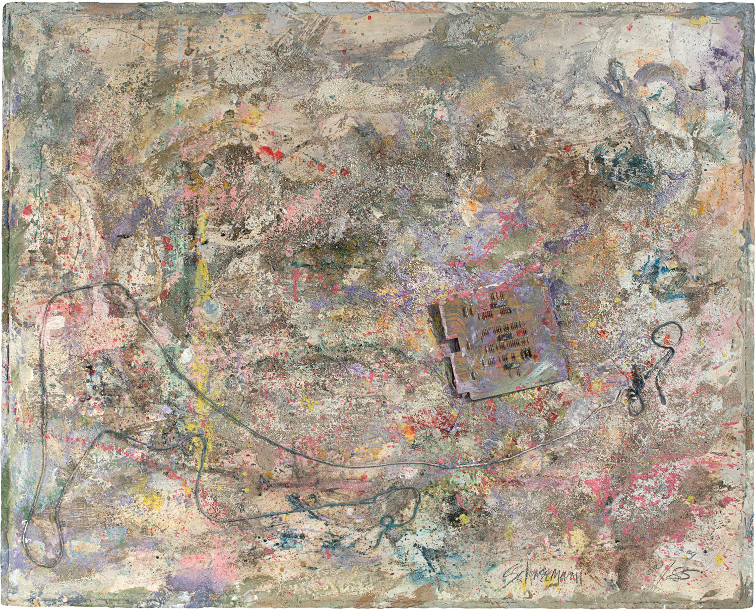 Untitled dust painting #9, 1985