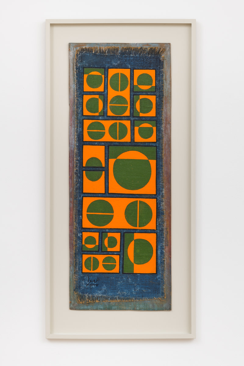 Composition in Orange and Green on Blue, 1962