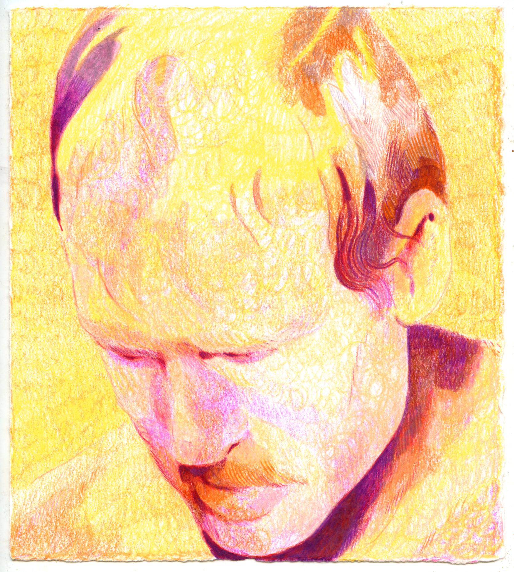 downward gaze (yellow), 2021