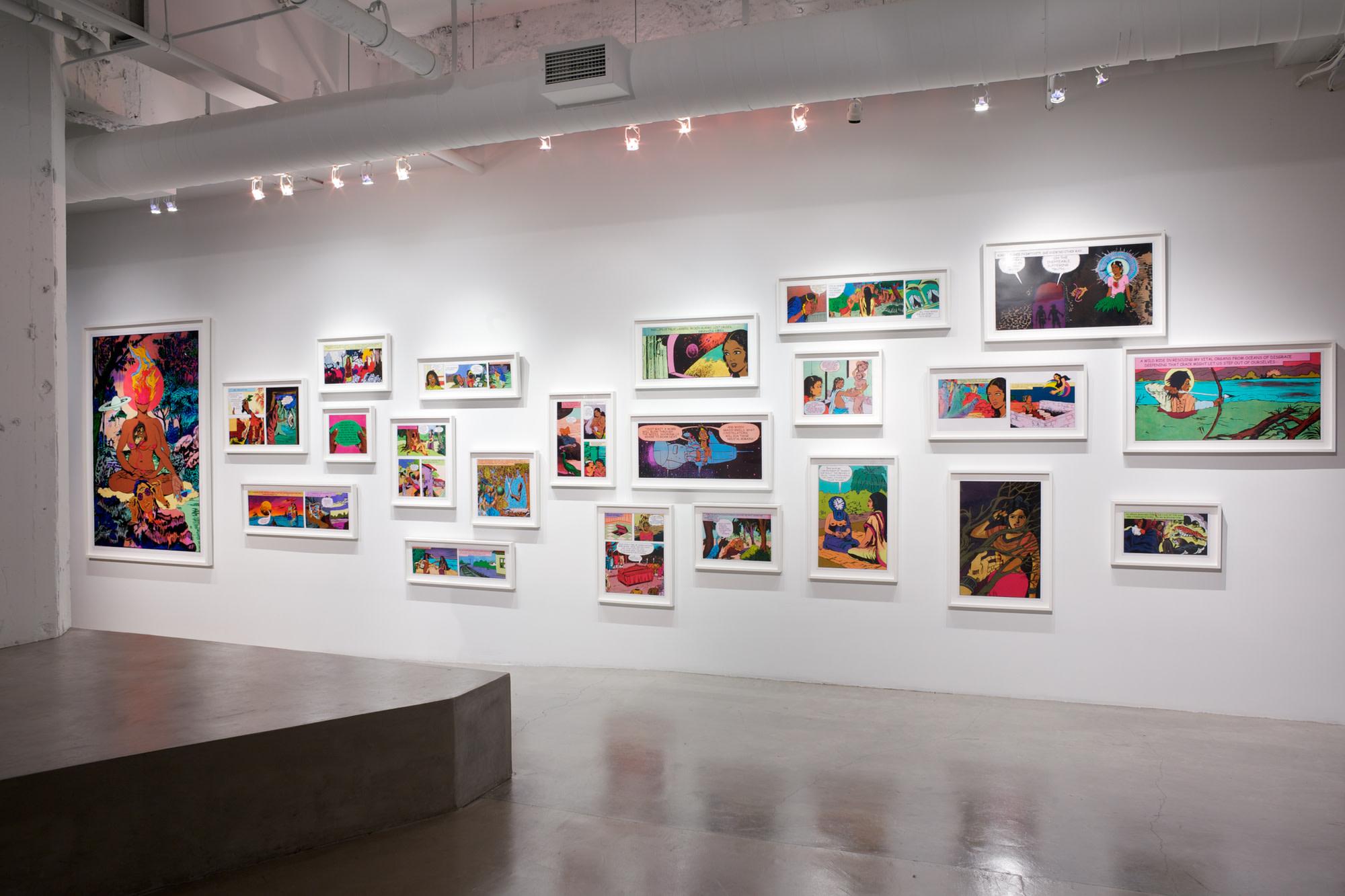 Installation view, 'Flickering Myths' at Gallery Wendi Norris, San Francisco, November 1 — December 22 2012