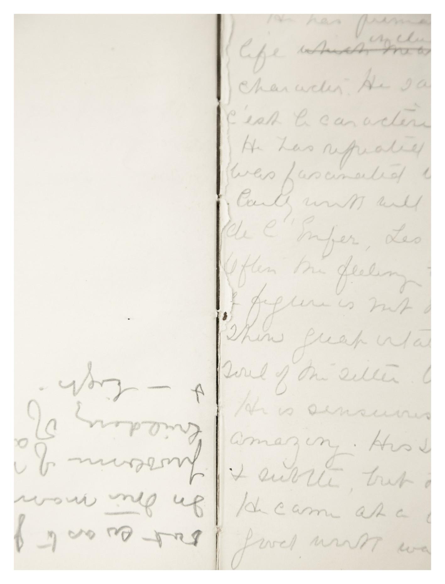 Timefold from the notebooks of Gertrude Vanderbilt Whitney, 2015