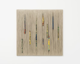 Sheila Hicks Les Espions, 2017 Linen, silk and cotton 105 x 105 cm, 41 3/8 x 41 3/8 ins