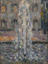 Henri Le Sidaner, Le jet d'eau, Versailles, 1937
