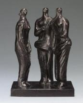 Henry Moore, Three Standing Figures, 1945