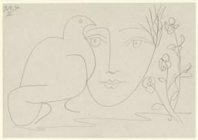 Pablo Picasso, Le visage de la Paix III, 5 December 1950