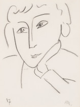 Henri Matisse, Head of a Woman, Leaning on Her Left Hand, 1952
