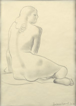 Barbara Hepworth, Seated Nude, 1947