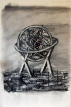 William Kentridge, Gyroscope (Drawing from the film Medicine Chest), 2000