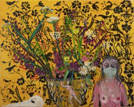 Shani Rhys James, Nostagio III (Blue Face Mask), 2020