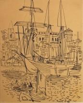 Raoul Dufy, Le port de Marseille, c. 1928