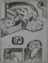 Jacob Bornfriend, Untitled (Hands), 1976