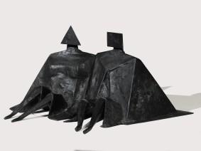 Lynn Chadwick, Sitting Couple II, 1980