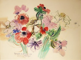 Raoul Dufy, Anémones, 29th April 1950