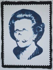 Darren Coffield, Thatcher, blue, 2013