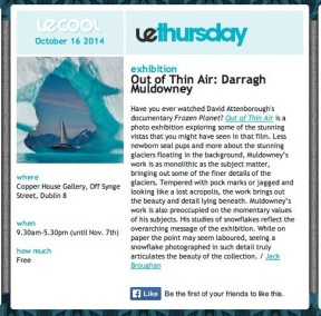 Le Cool Review Out of Thin Air by Daragh Muldowney