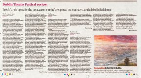 The Gathering 2013, an exhibition of work by Kerry artists, in The Irish Times