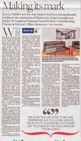 Allianz Business to Arts supplement in the Sunday Independent
