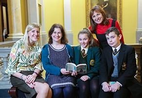 Pupils meet Sheena Wilkinson at Belfast Harbour event