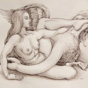 Michael Bergt, Leda and Swan (study)