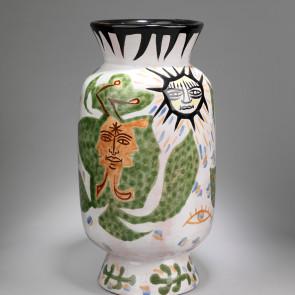 Jean Lurçat, Vase - White - Eyes of Nature, c. 1955