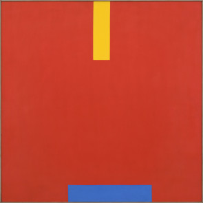 John Plumb, Blue Shift on Red Field, 1968