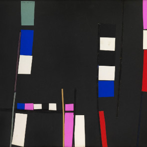 Vera Spencer, Composition (black), 1952