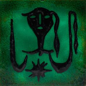 Jean Lurçat, Tile - Square - Green - Kodama, c. 1955