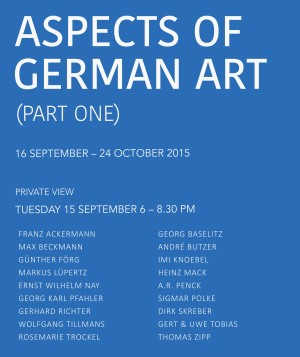 Aspects of German Art (Part One)