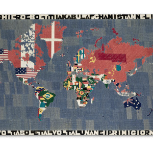 Alighiero Boetti: Embroideries including Mappas, Tuttos and a Rug