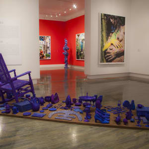 Installation with Aracoel's Objects, (Museo de Arte Contemporaneo de Puerto Rico) Interventions with Aracoel's Objects