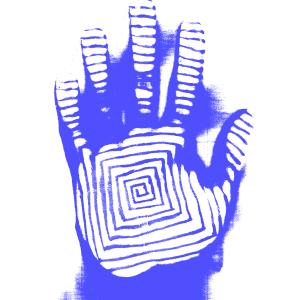 The Print (white and blue)