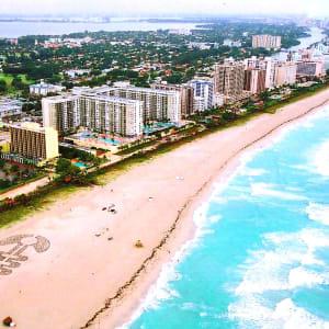 Sound Symbols Project, site specific installation, Miami Beach, Florida (aerial view) (VIDEO LINK)