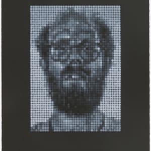 Self Portrait, White on Black