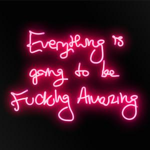 Fucking Amazing - Pink On Black