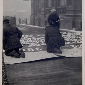 Men Working on Banner, Moscow 1931