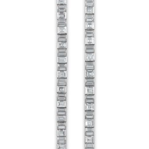 A convertible platinum and diamond necklace