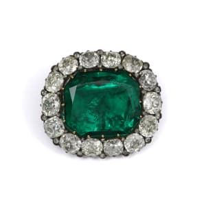 The Donnersmarck emerald and diamond brooch