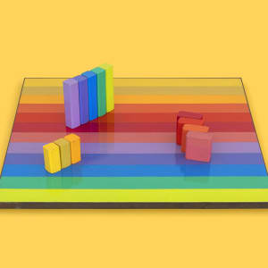 Multicolor Rearrangeable Game Board