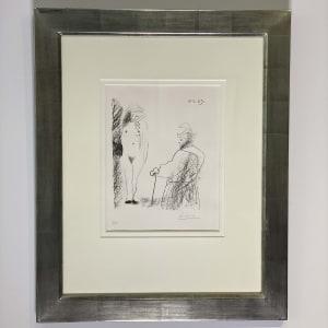 Pablo Picasso, Femme Nue et Homme a la Canne, 1969