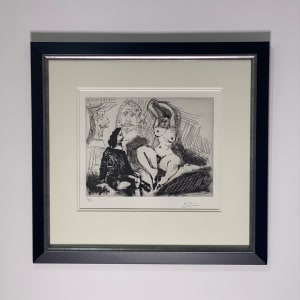 Pablo Picasso, Homme Assis Auprès d'une Femme Coiffant, 1968