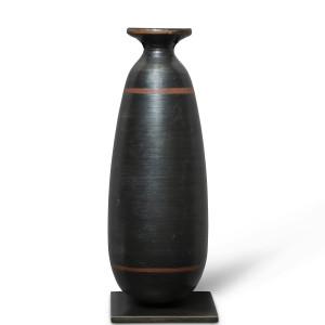 Greek black-glaze alabastron, Laconian, late 6th century BC