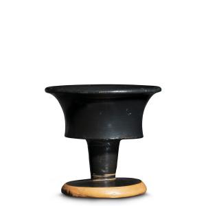 Greek black-glaze chalice, Athens, c.500 BC