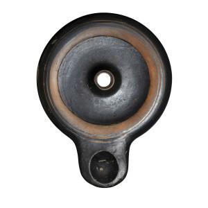 Greek black-glaze lamp, Athens, c.450-400 BC