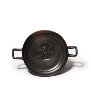Greek black-glaze stemless kylix , Campania, c.350-300 BC